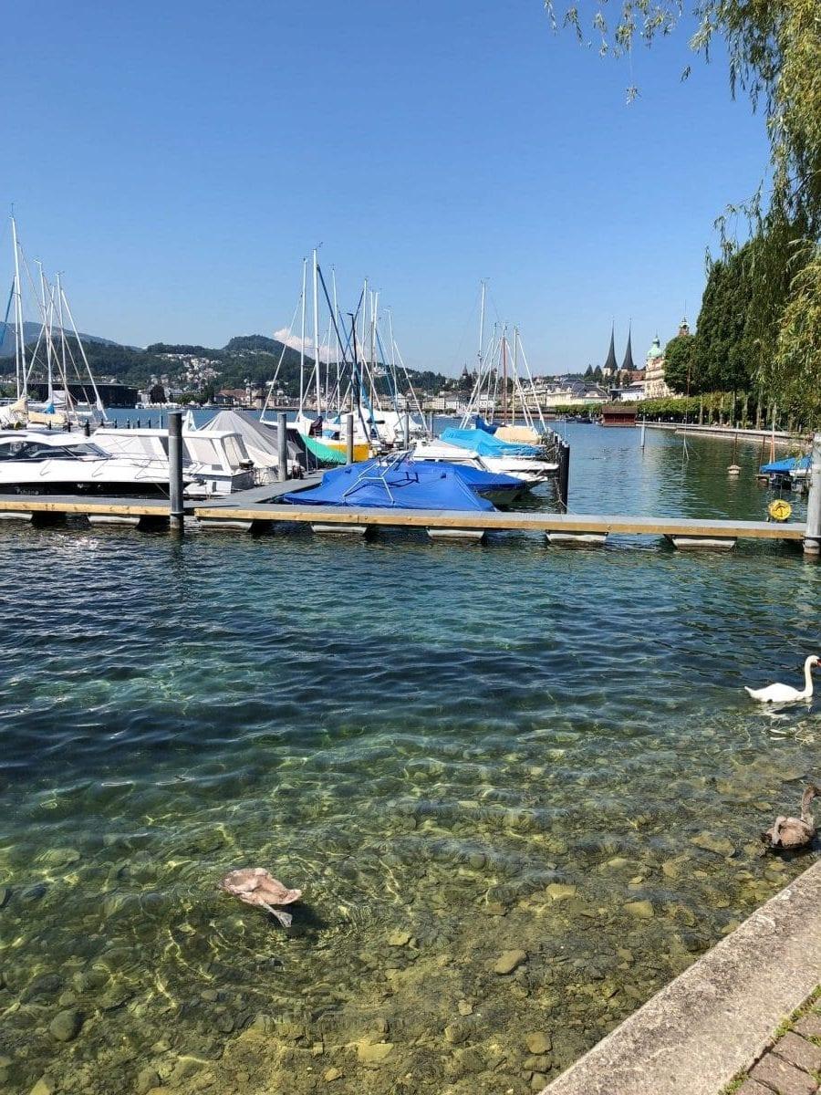 Luzern Bootsteg am Vierwaldstättersee
